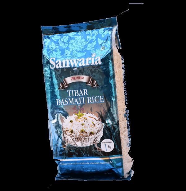SANWARIA SETH PREMIUM TIBAR BASMATI RICE 1 KG