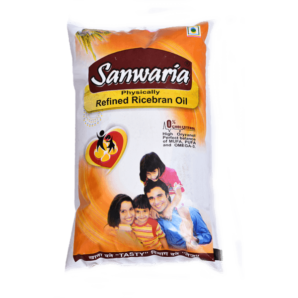 SANWARIA REFINED RICEBRAN OIL 1 LTR POUCH