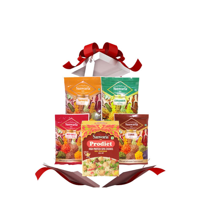 Thumb Of Sanwaria Spices Combo With Free Soya Bari 200 Grm
